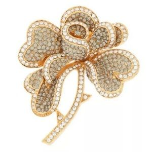 JOAN RIVERS Hearts & Flowers Pave Brooch Pin